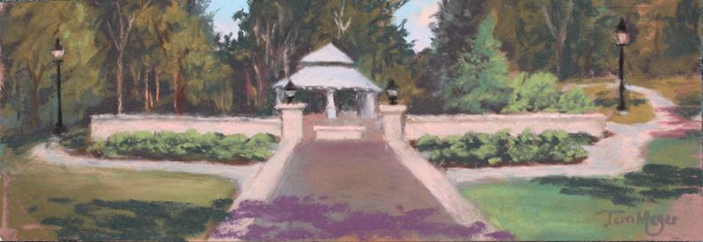 Plein Air Lakeside - Memorial Garden 7-17-16 s