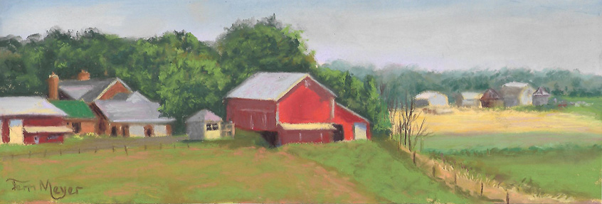 Plein Air Pastel 7-21-16 South View of Meyer Farm (small)