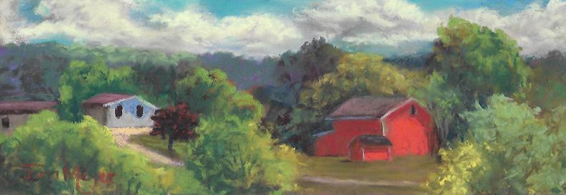 Plein Air Pastel 8-6-16 Farm to the East