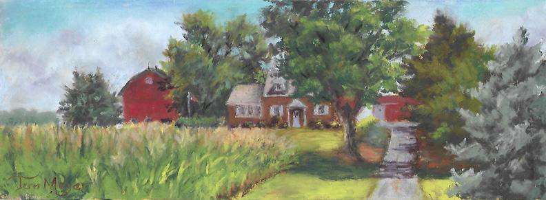 Plein Air Pastel - Hipsher Family Farm by Terri Meyer 8-1-16