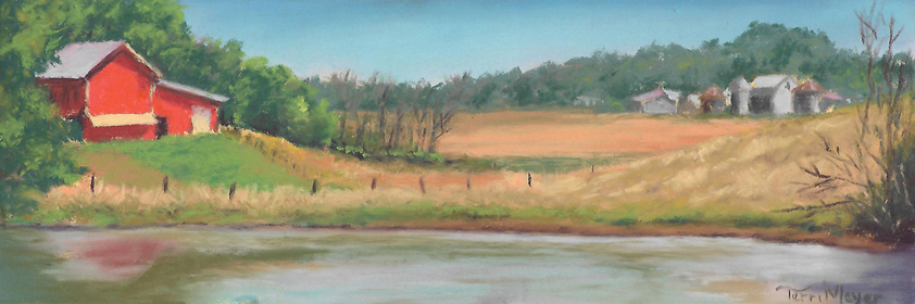 Plein Air Pastel (small)- The Barn with a View 7-19-16