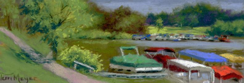 Pontoon Boats at Charles Mill Lake, Ohio