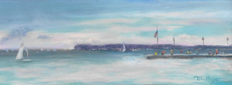 Plein Air Lakeside - The Dock - 7-17-16 s
