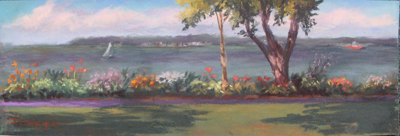 Plein Air Lakeside - The Most Beautiful Mile - 7-16-16 small