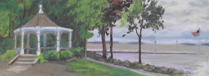 plein air Lakeside - The Gazebo 7-16-16 s